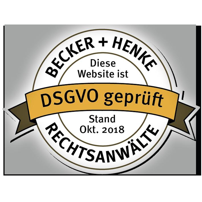 DSGVO geprüft - Stand 10-2018
